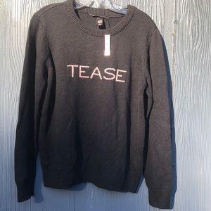 Victoria's Secret TEASE Sweater Black Sz Large